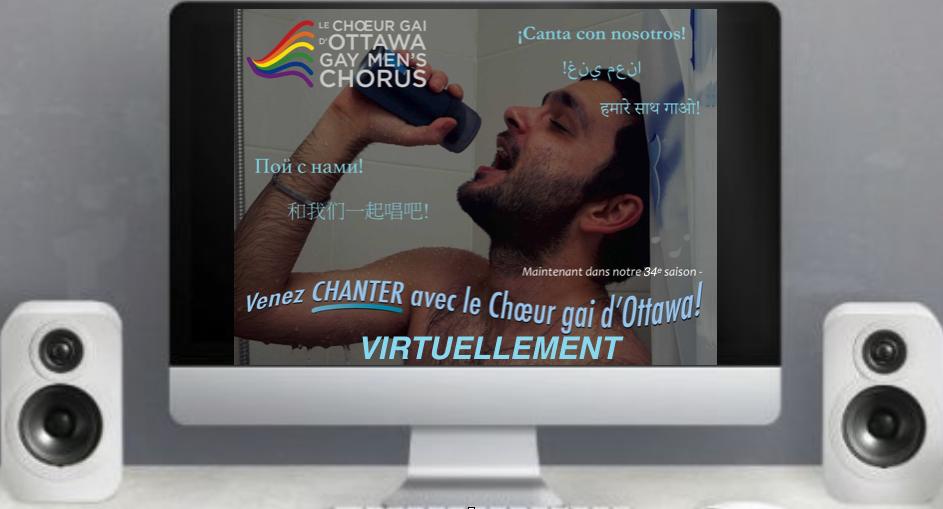 Venez chanter avec le Choeur gai d'Ottawa! Virtuellement