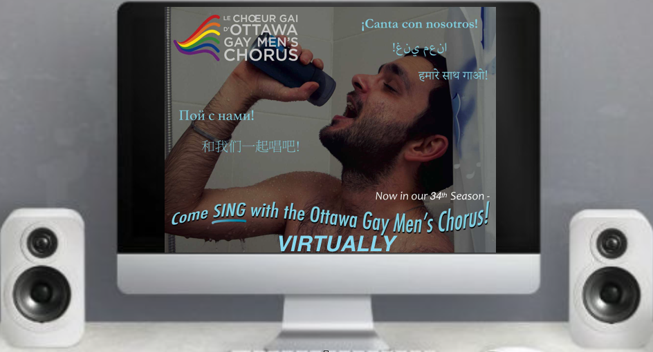 Come sing with the Ottawa Gay Men's Chorus! Virtually!